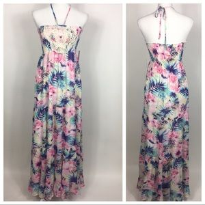 NWT Charming Charlie Pink Maxi Dress